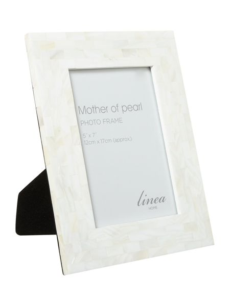 Linea Mother of pearl photo frame 5x7