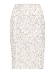 Contrast lace skirt