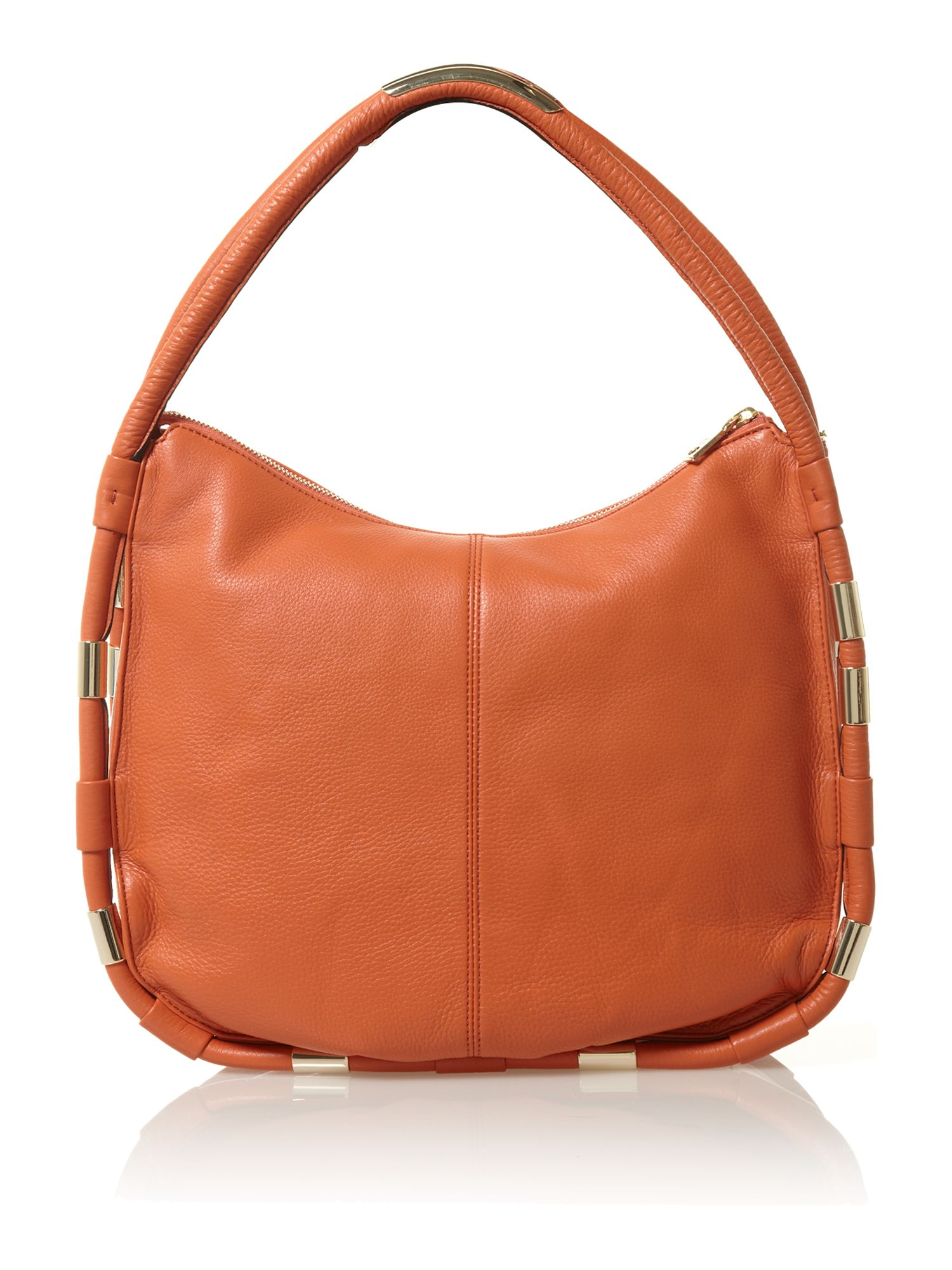 Crosby orange small hobo bag