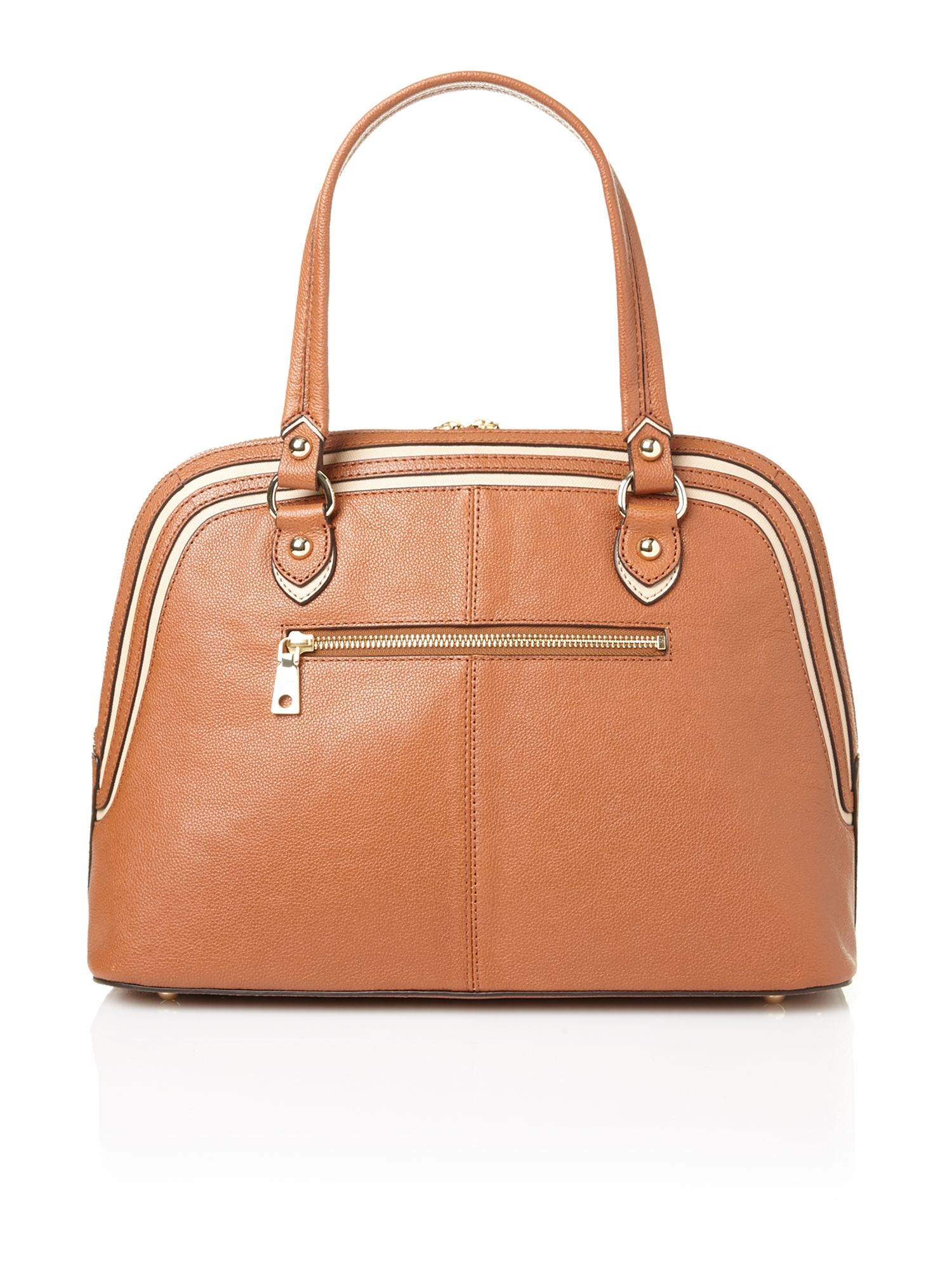 Vintage tan dome bag