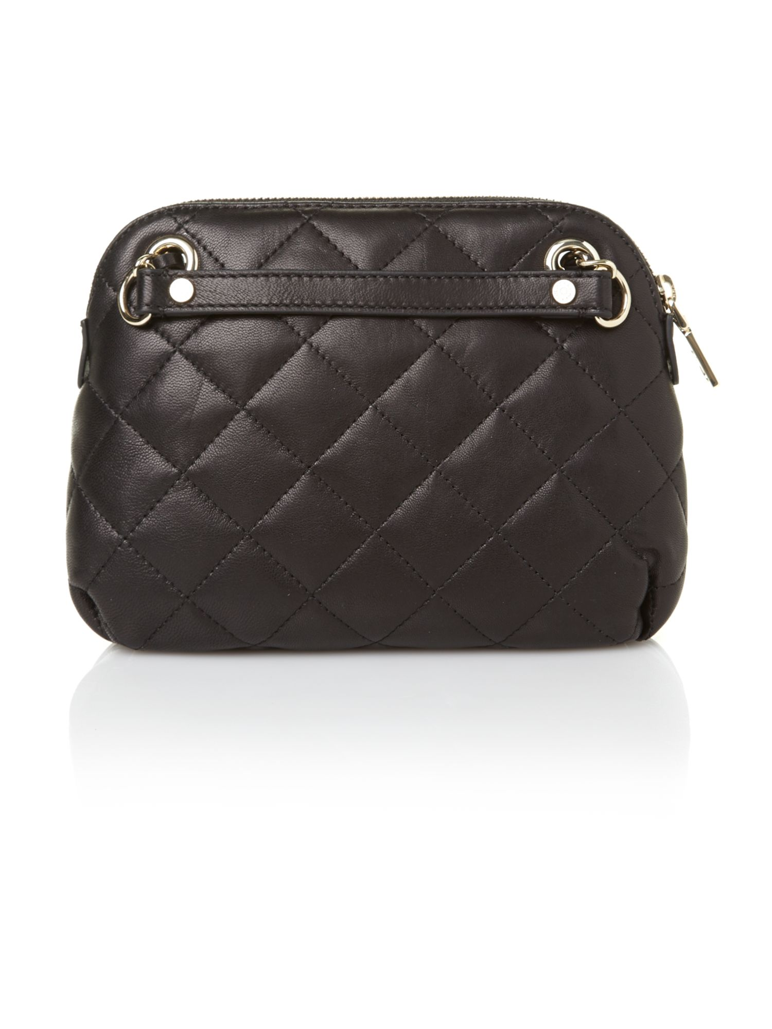 Items quilted black small crossbody bag