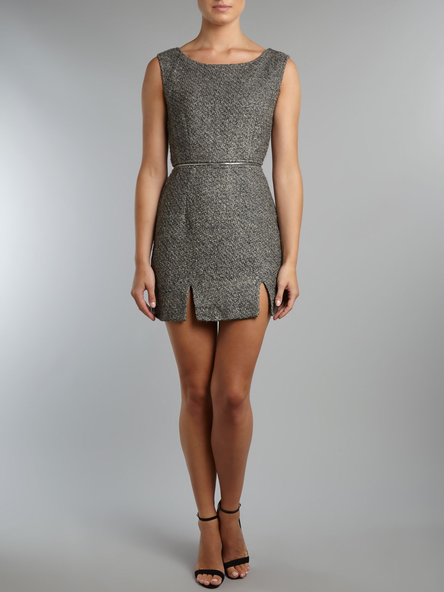 Wool zip dress