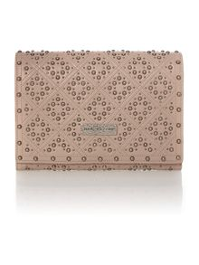 Baroque nude studded small crossbody bag