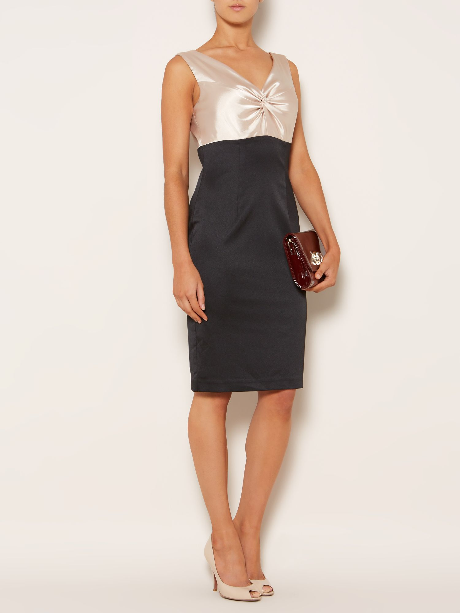 Kate knot front colourblock dress