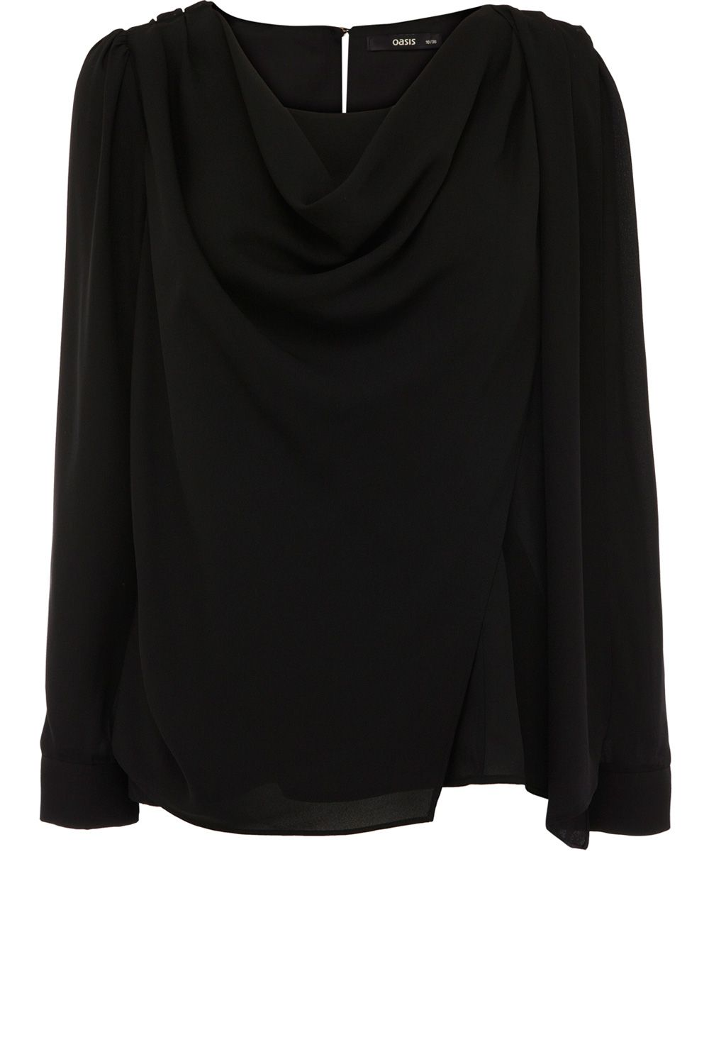 Drape cowl neck ls top