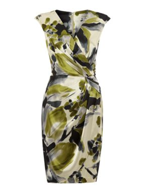 Linea Printed Wrap Dress