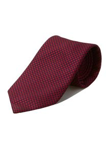 Navy red dogtooth silk tie