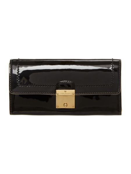 Marc Jacobs The 1984 black patent large flapover purse