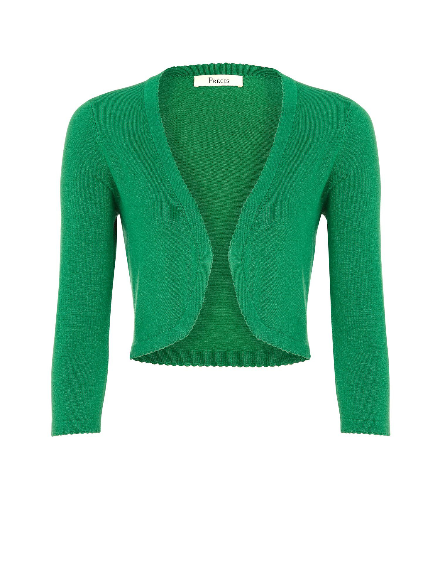 Emerald picot edge shrug