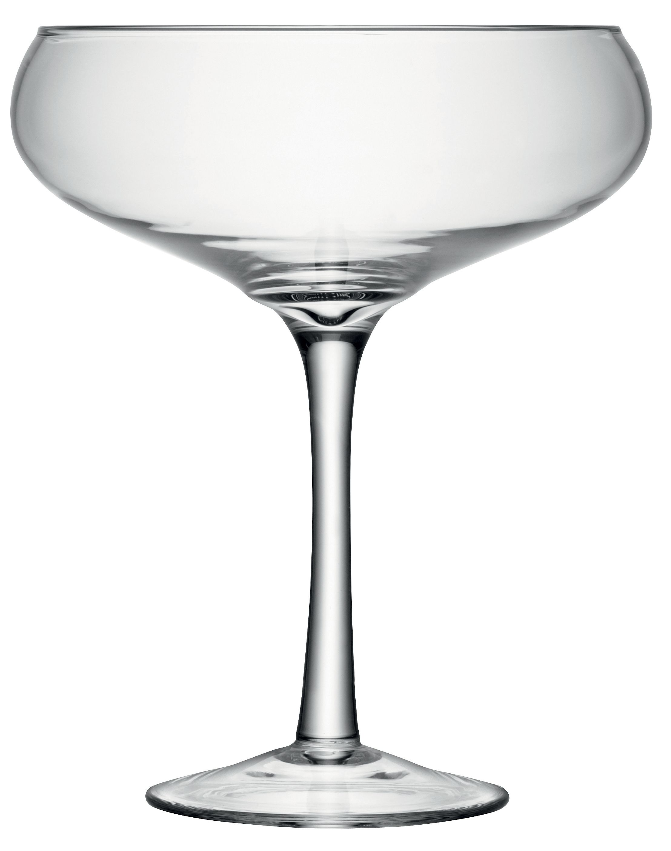 Midi Decorative Champagne Saucer H30cm Clear