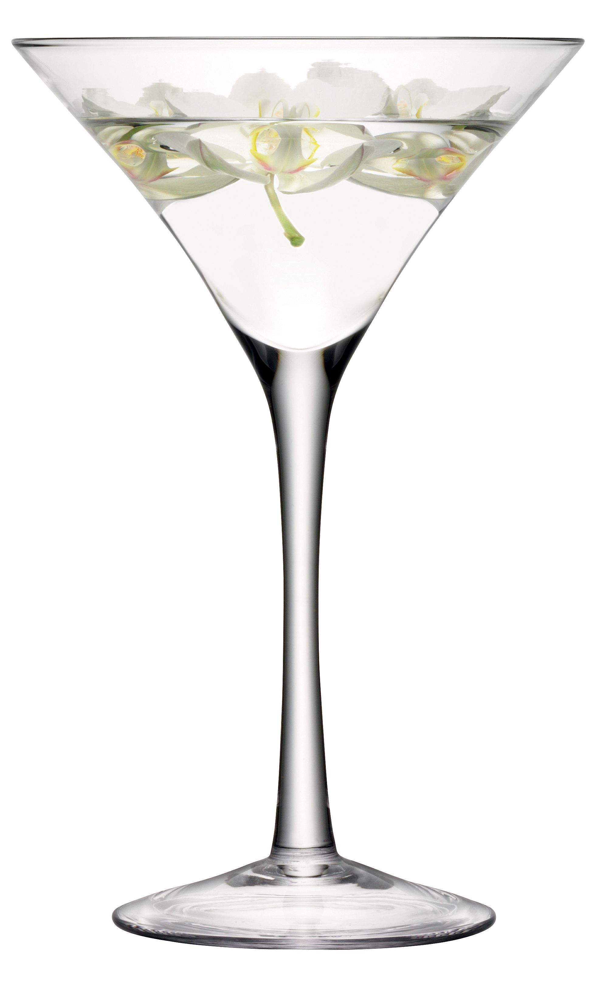 Midi Decorative Cocktail Glass H34cm Clear