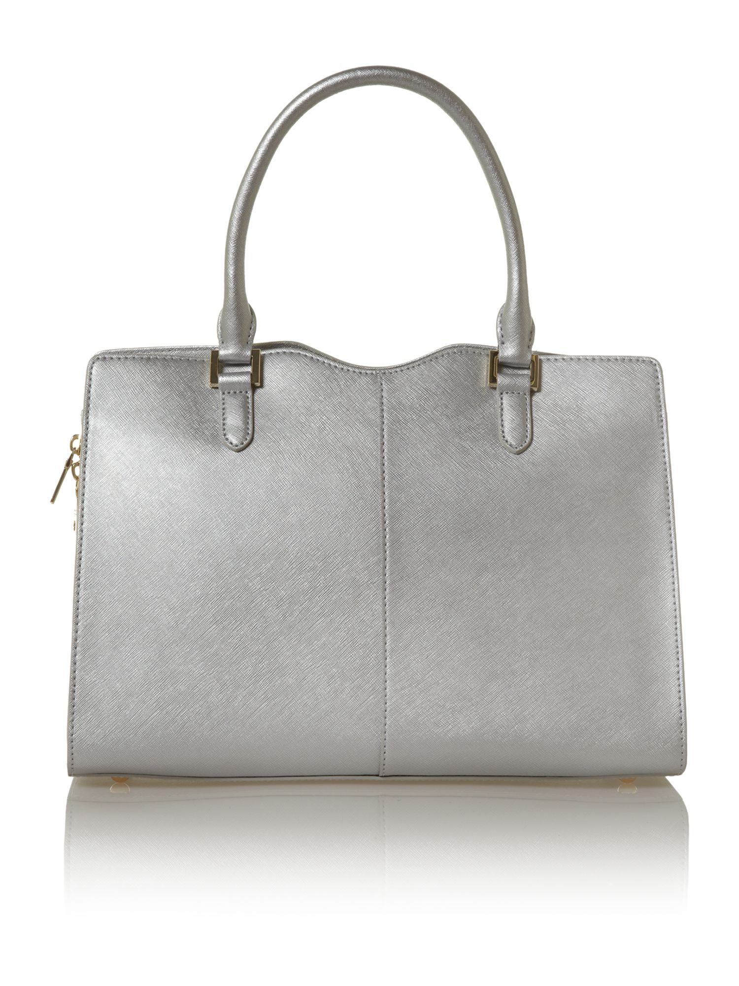 Saffiano metallic bowling bag