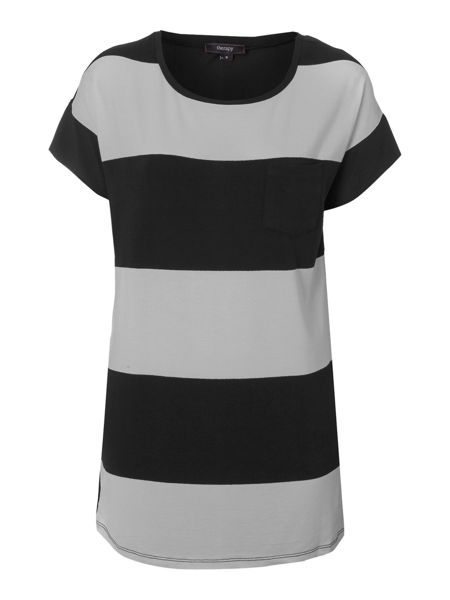 Therapy Striped woven back top