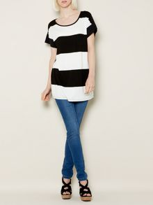 Striped woven back top