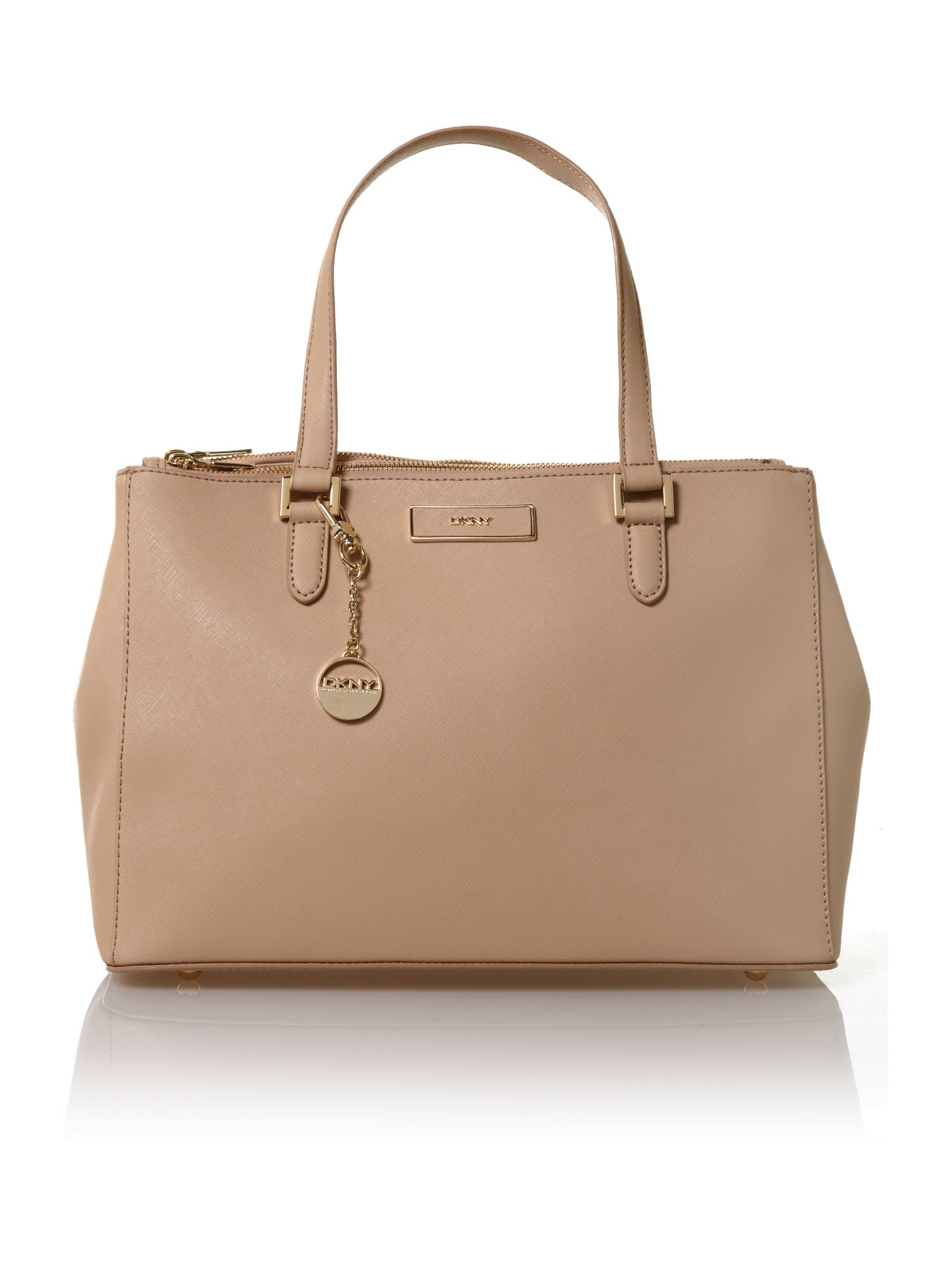 Saffiano neutral tote bag