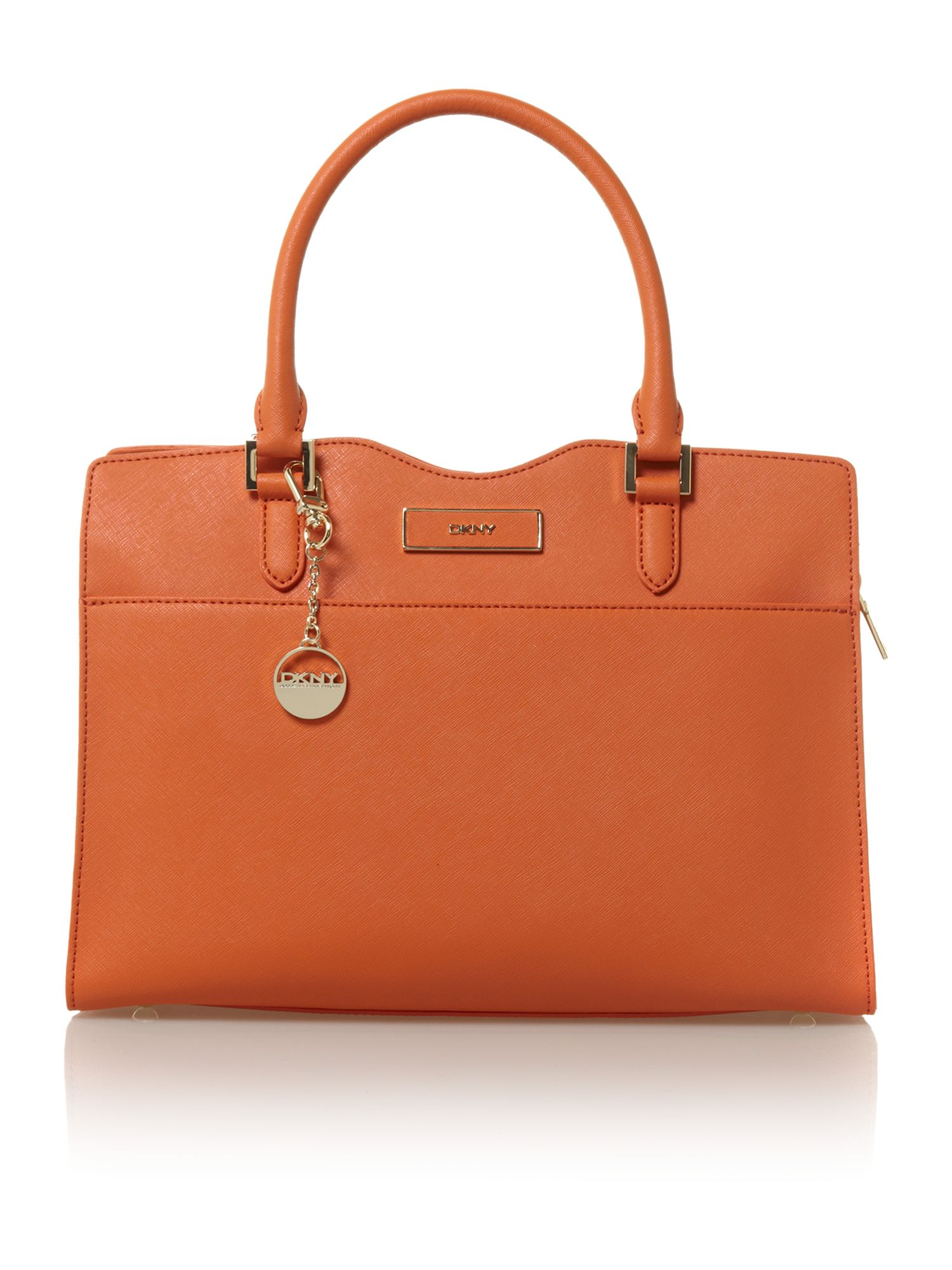 Saffiano orange tote bag