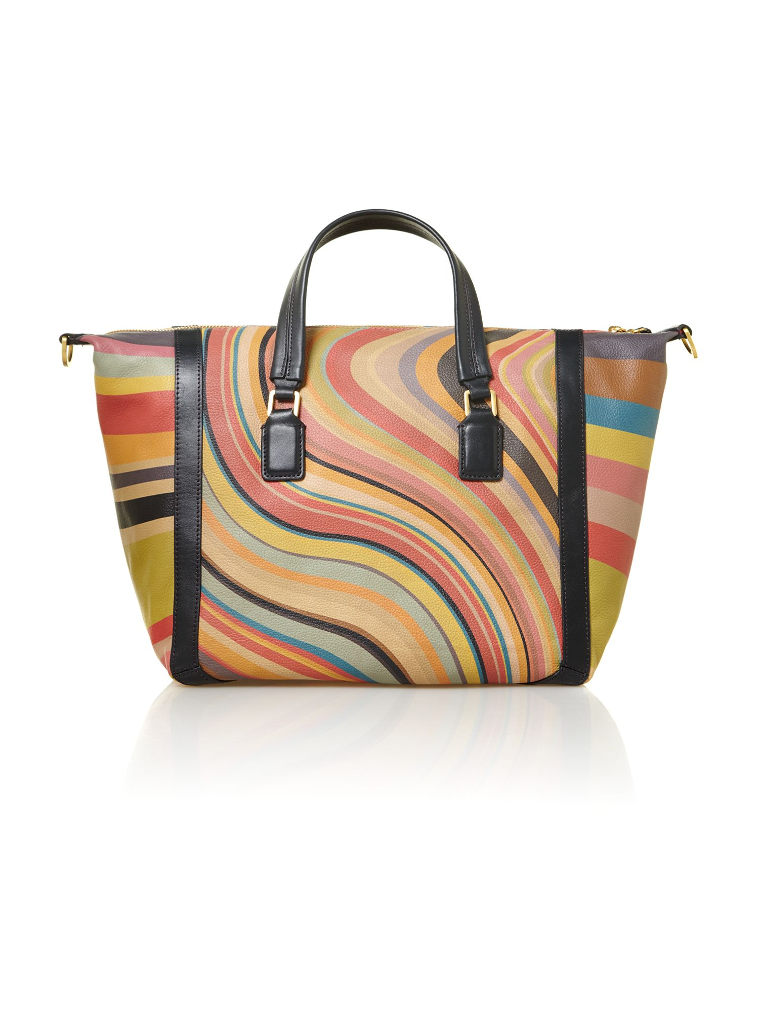 Swirl print large bowling bag