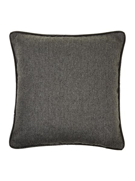 Linea Grey herringbone cushion