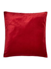 Linea Red velvet cushion