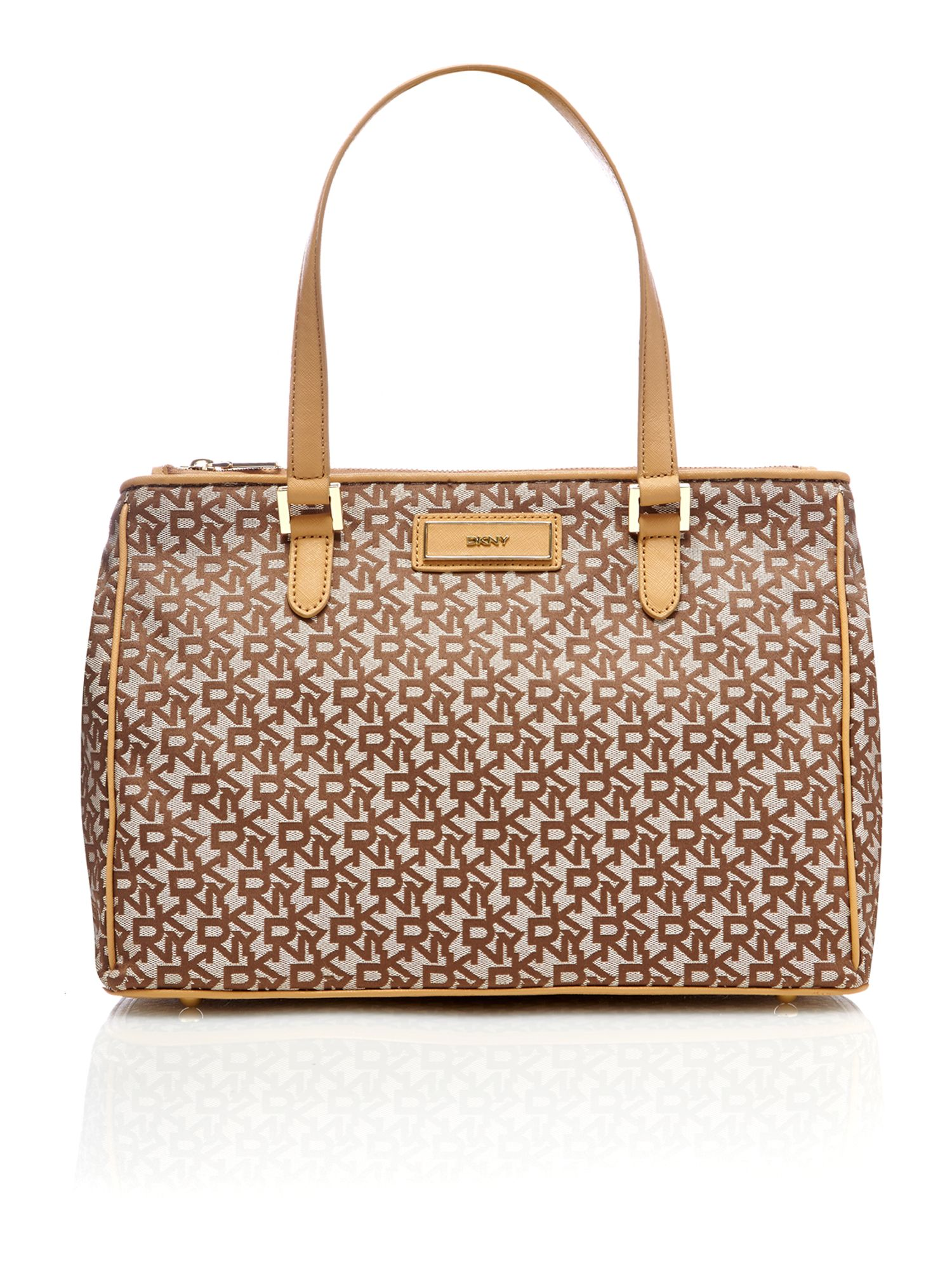 Saffiano tan large tote bag