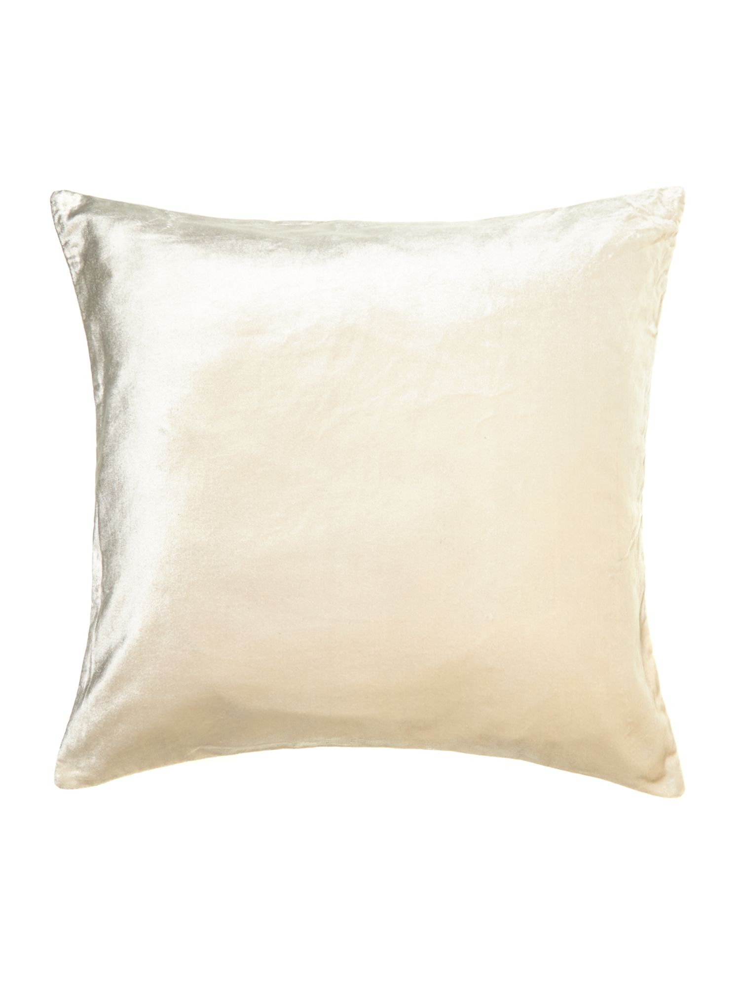 Oversized velvet cushion, champagne