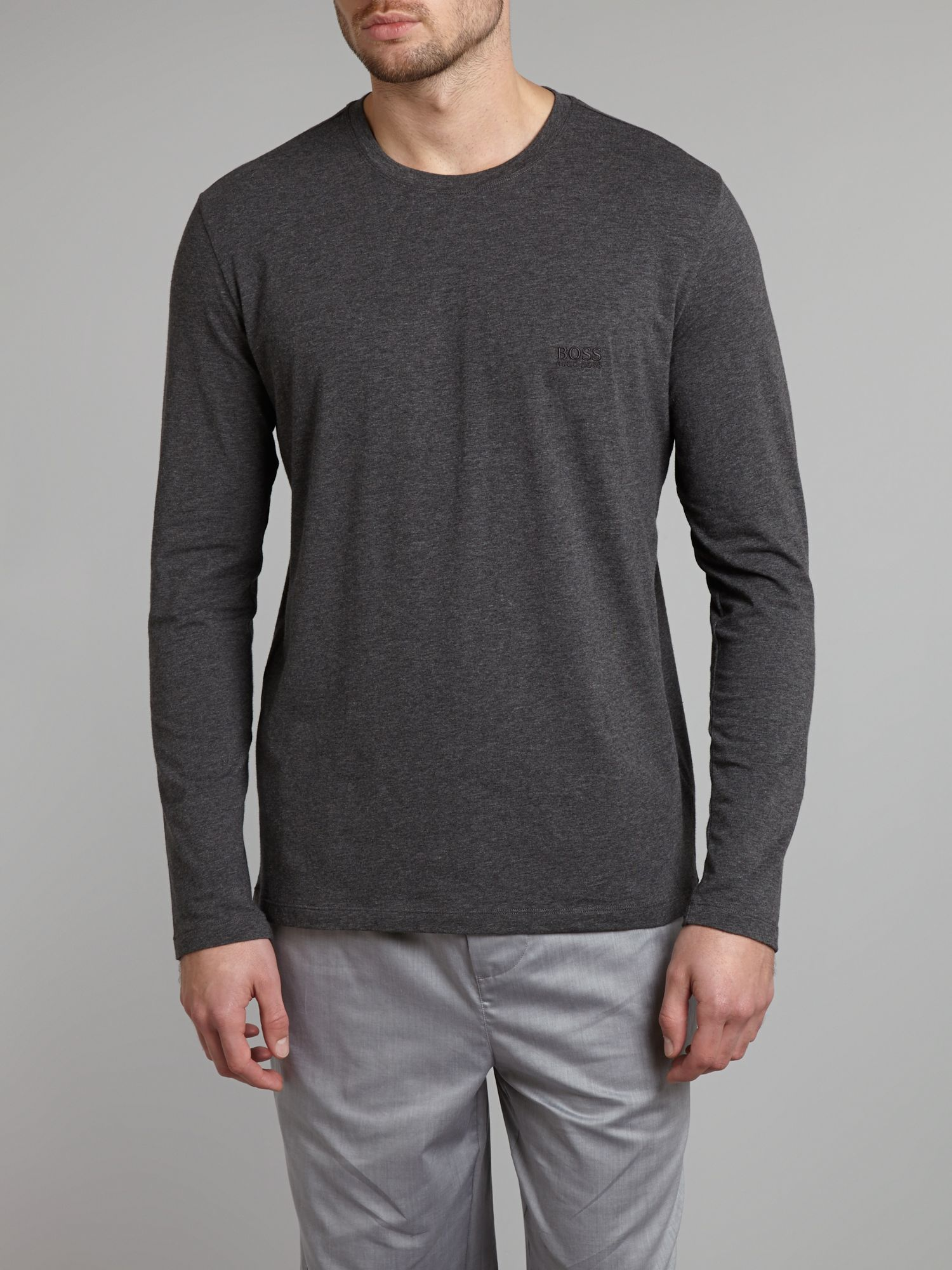 Long sleeved crew neck top