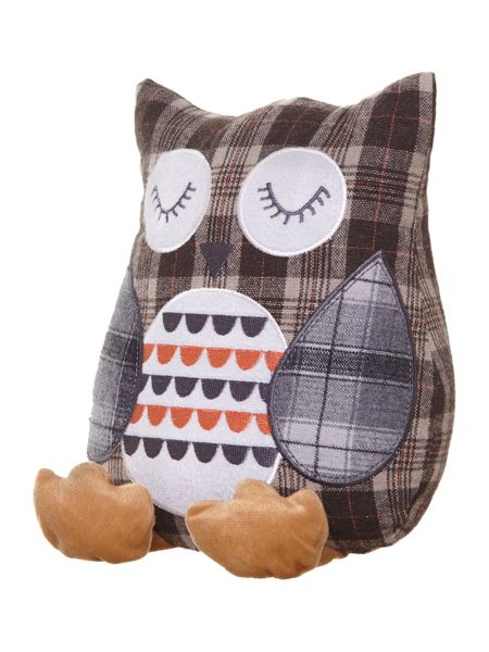 Linea Brown owl doorstop