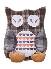 Brown owl doorstop