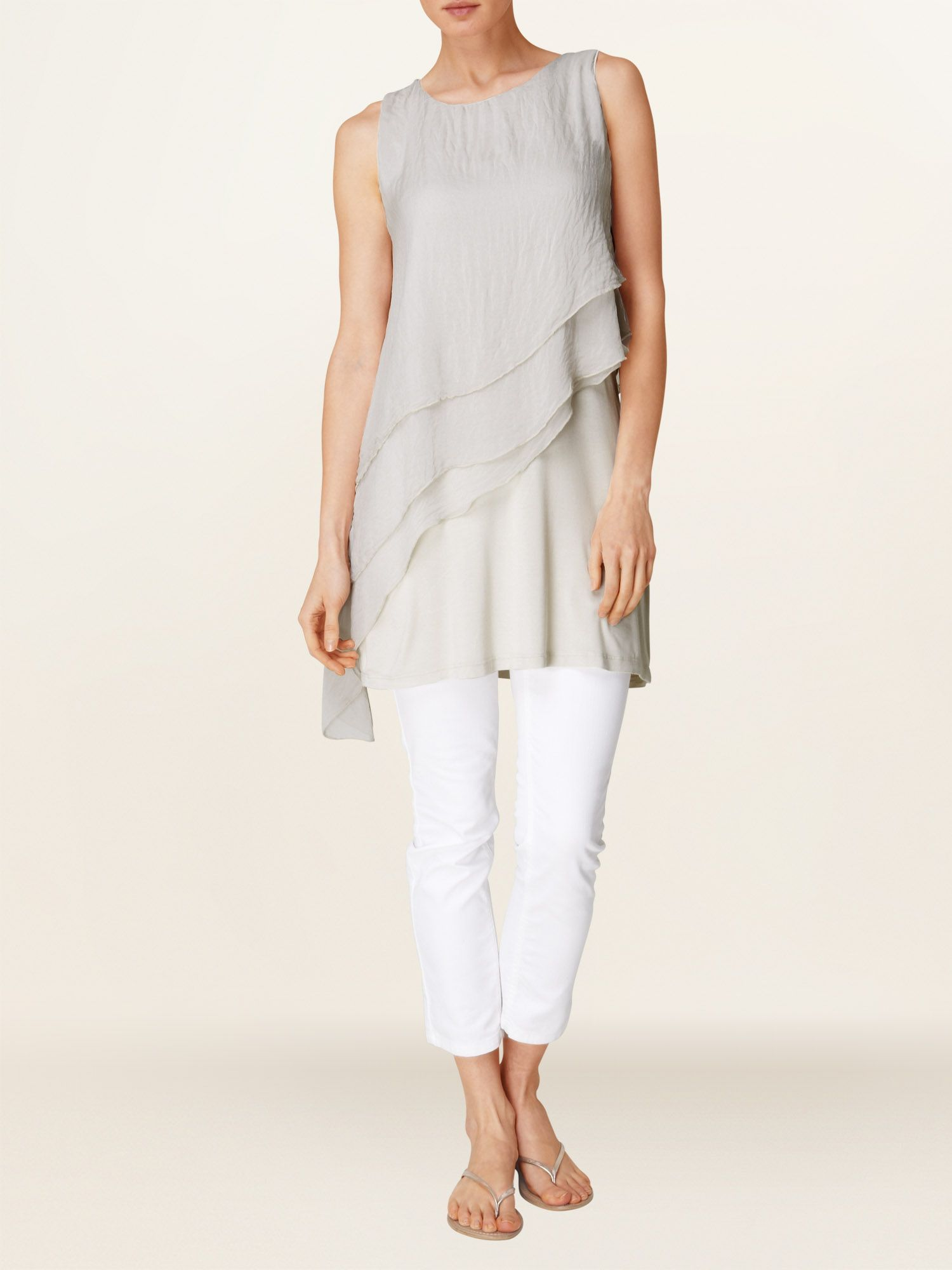 Alessandra chiffon and jersey tunic