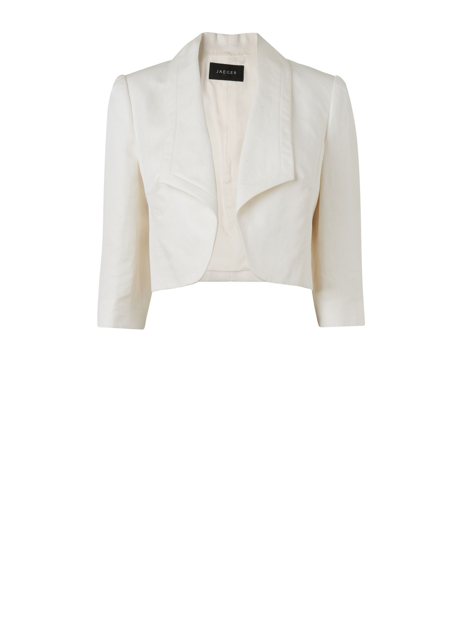 Edge to edge silk linen jacket