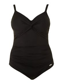 Versailles twist front swimsuit