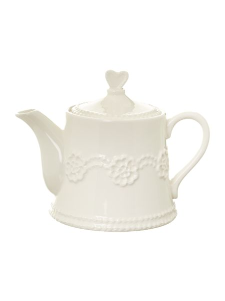 Shabby Chic Lace teapot