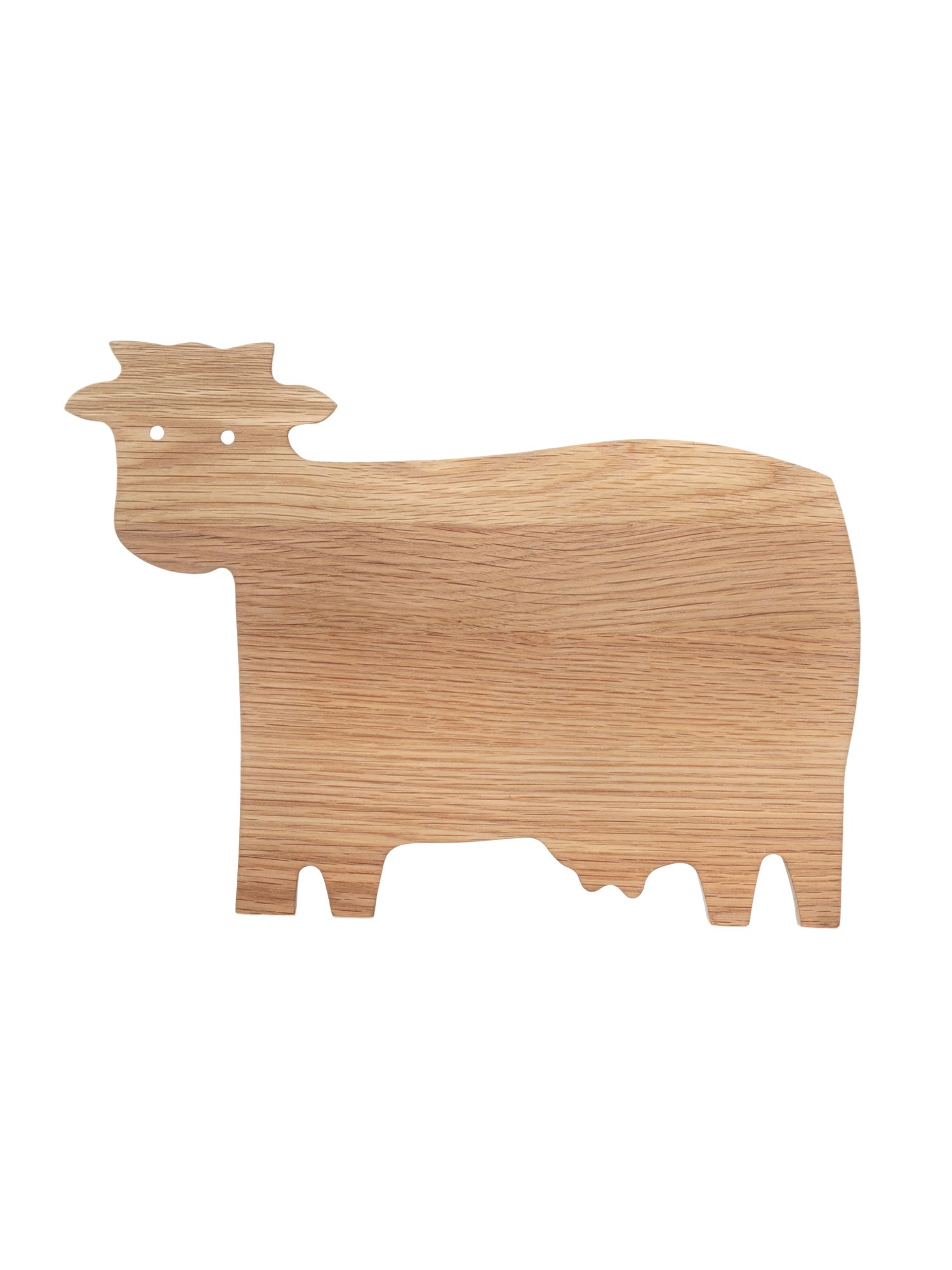 Oak cow animal chopping board