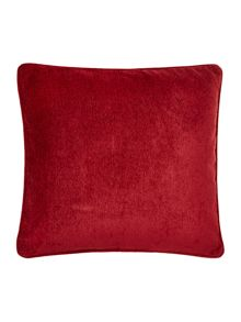 Red chenille cushion