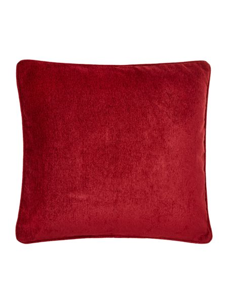 Linea Red chenille cushion