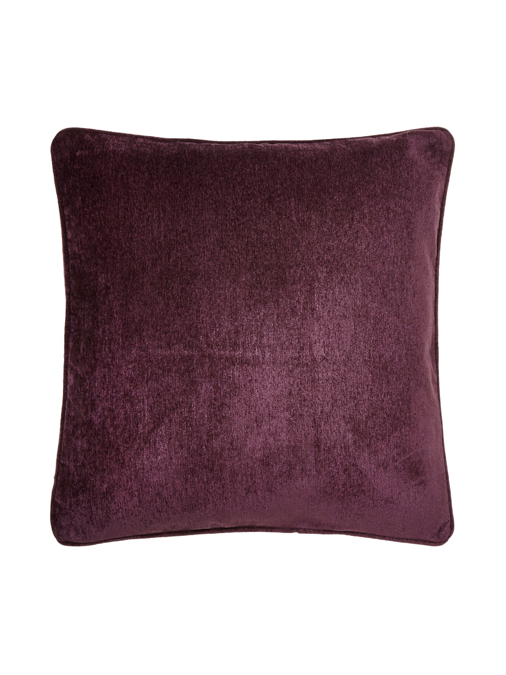 Purple chenille cushion