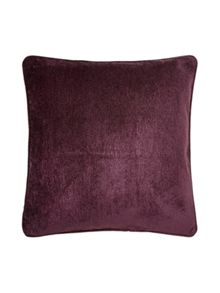 Linea Purple chenille cushion