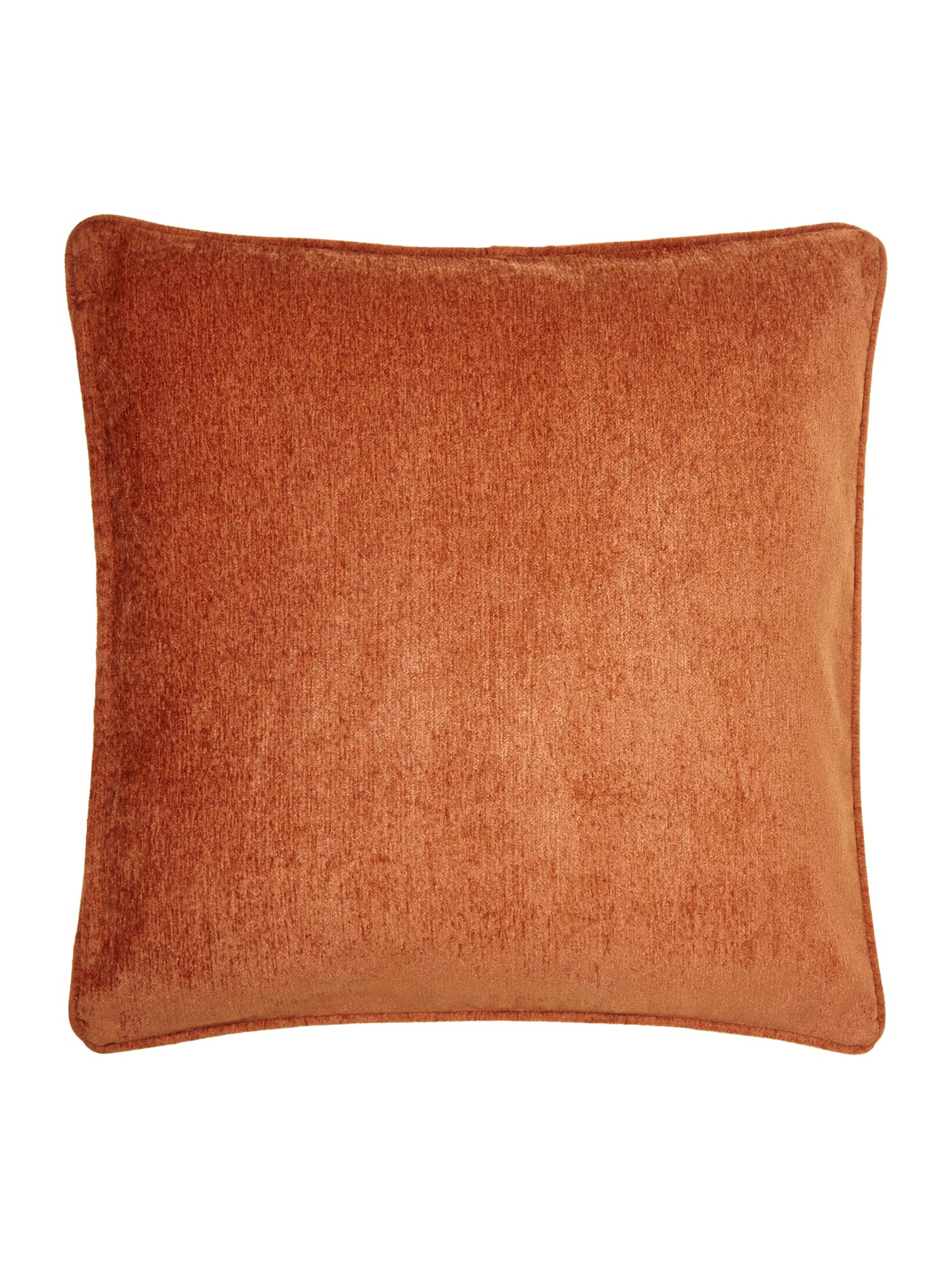 Rust chenille cushion