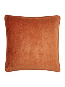 Linea Rust chenille cushion
