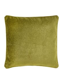 Green chenille cushion