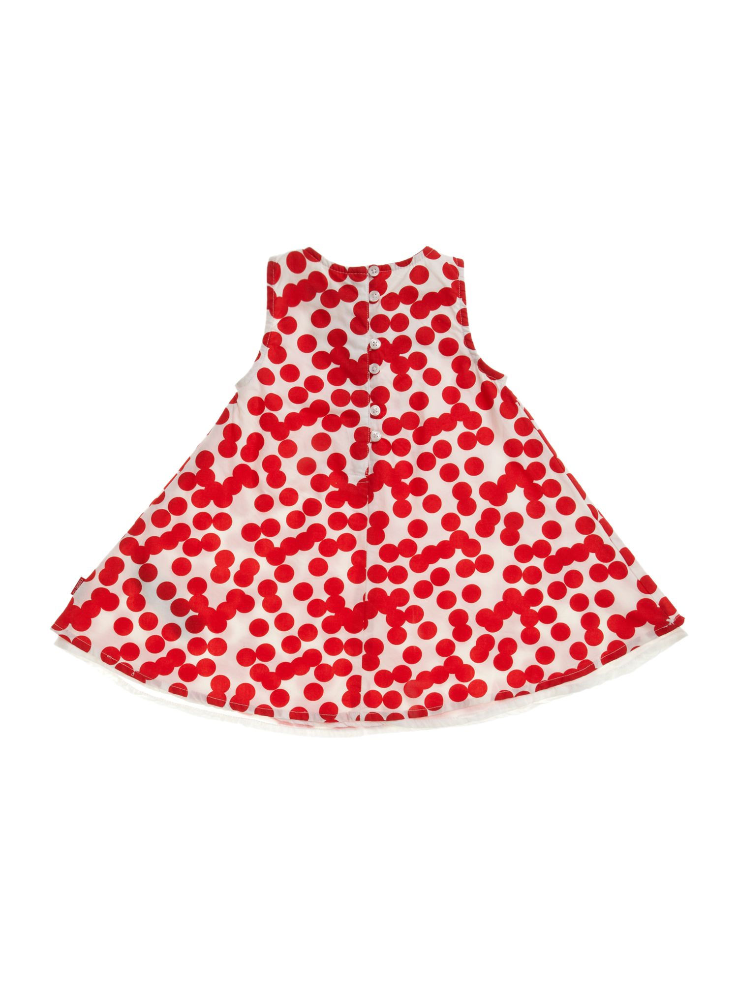 Girl`s all over spot print dress