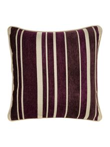 Purple stripe chenille cushion