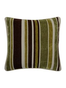 Green stripe chenille cushion