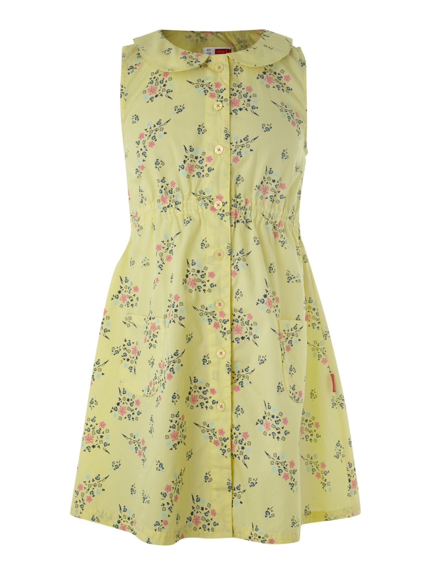 Girl`s sleeveless floral dress