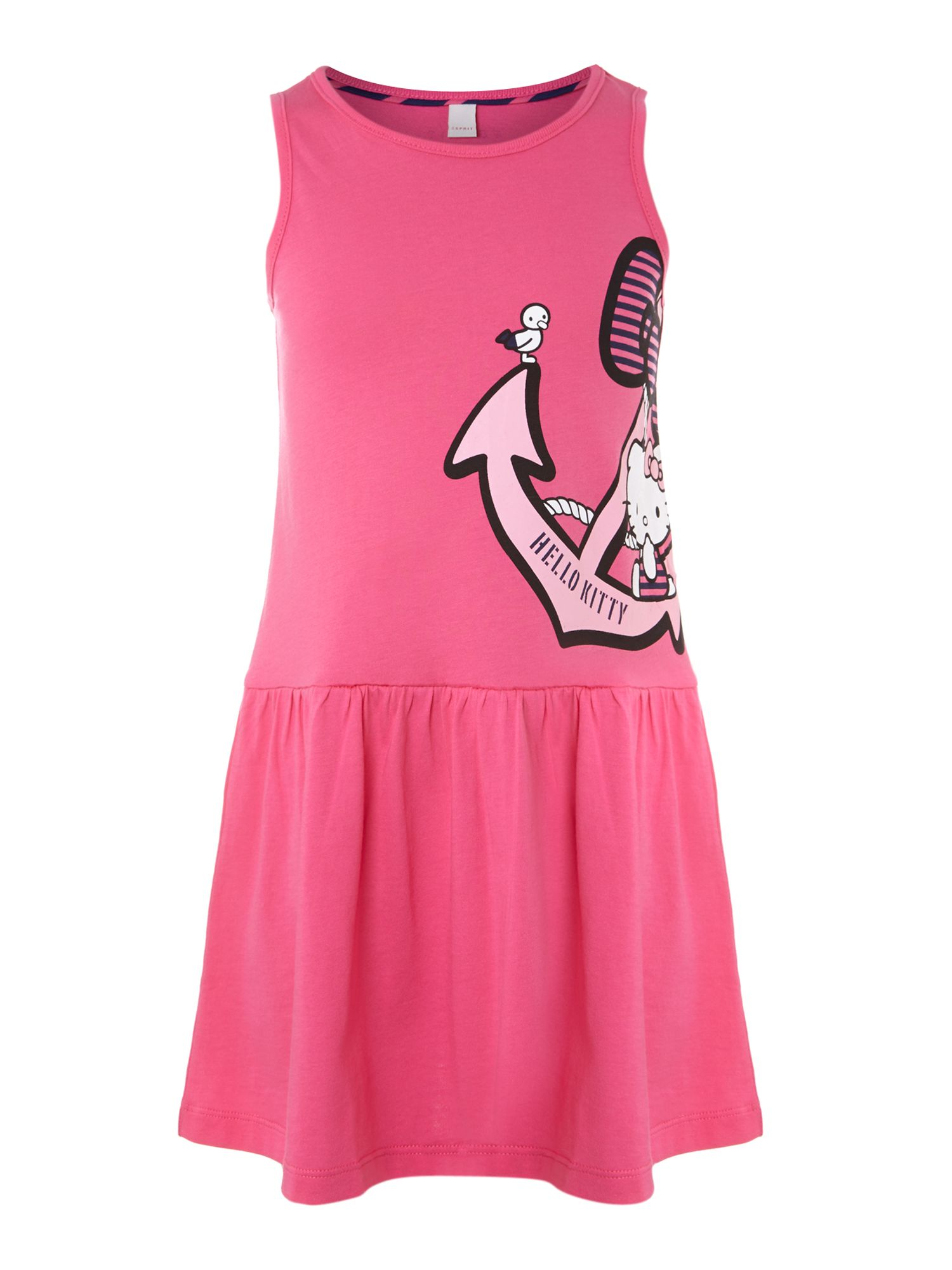 Girl`s sleeveless Hello Kitty dress