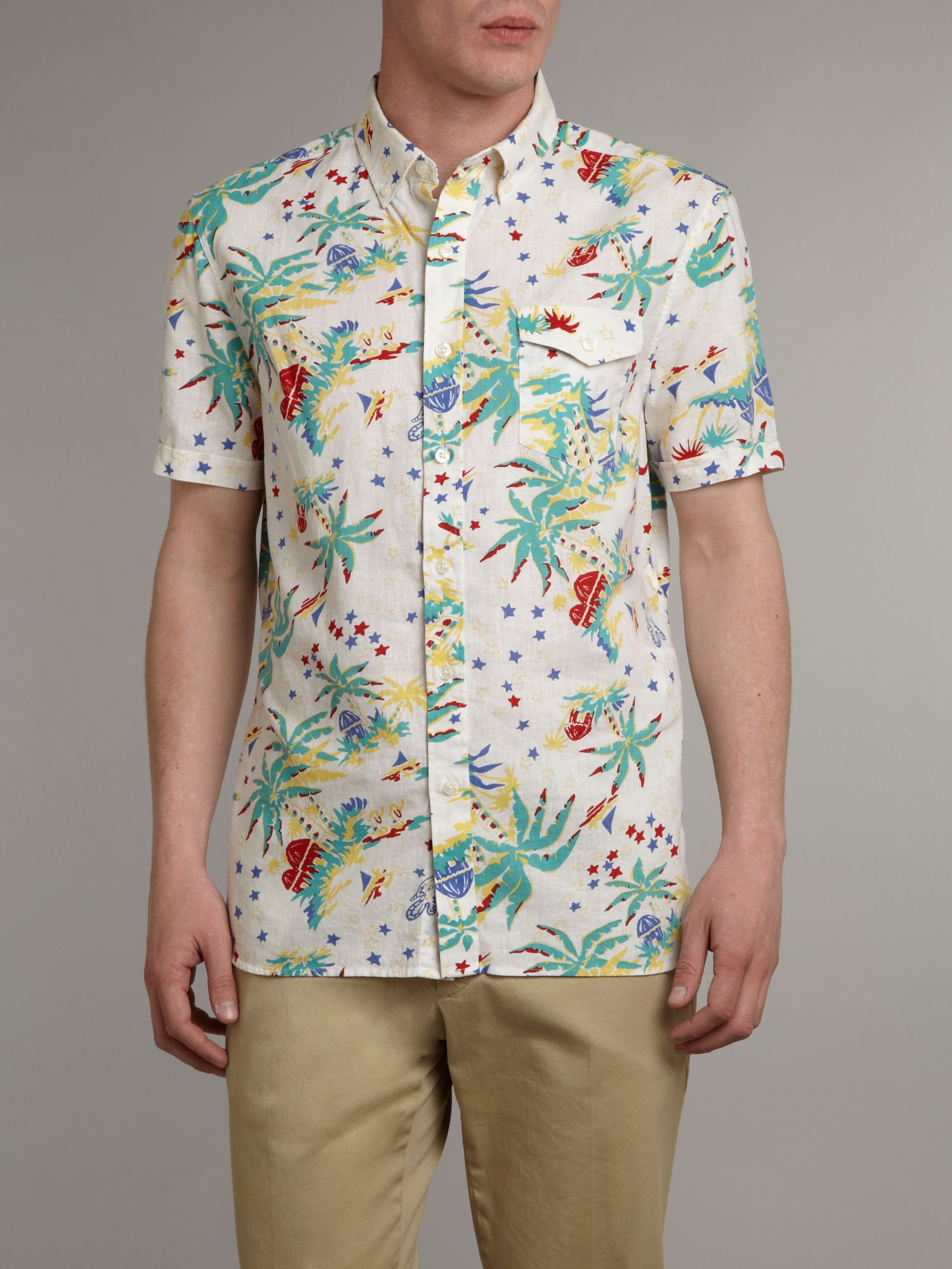 Hawaiian print shirt