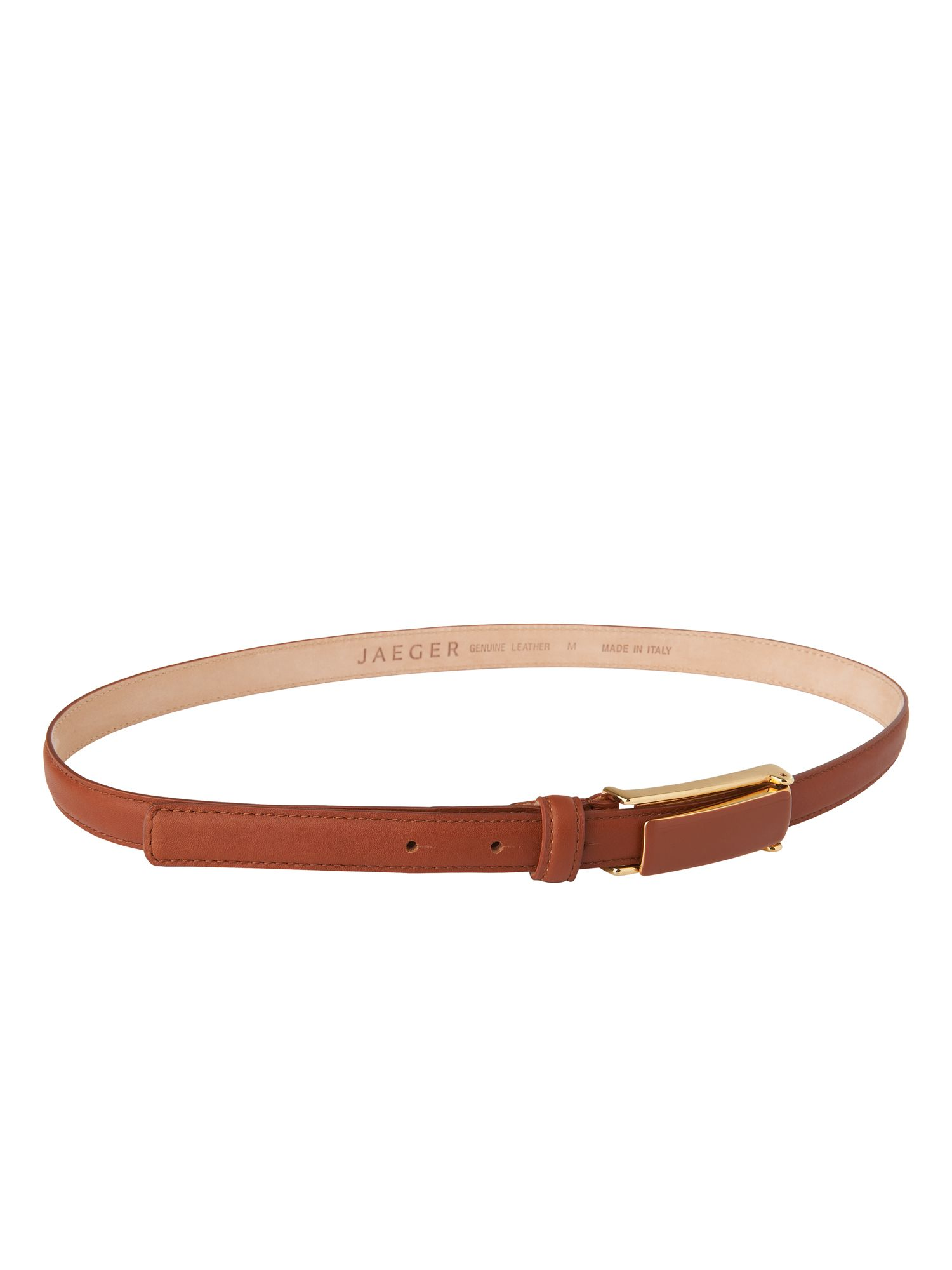 Trouser belt - long rectangle buckle