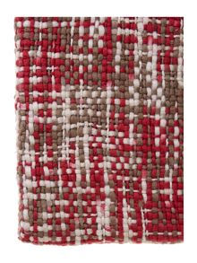Red and cream woven throw