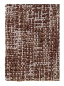 Brown and cream woven throw
