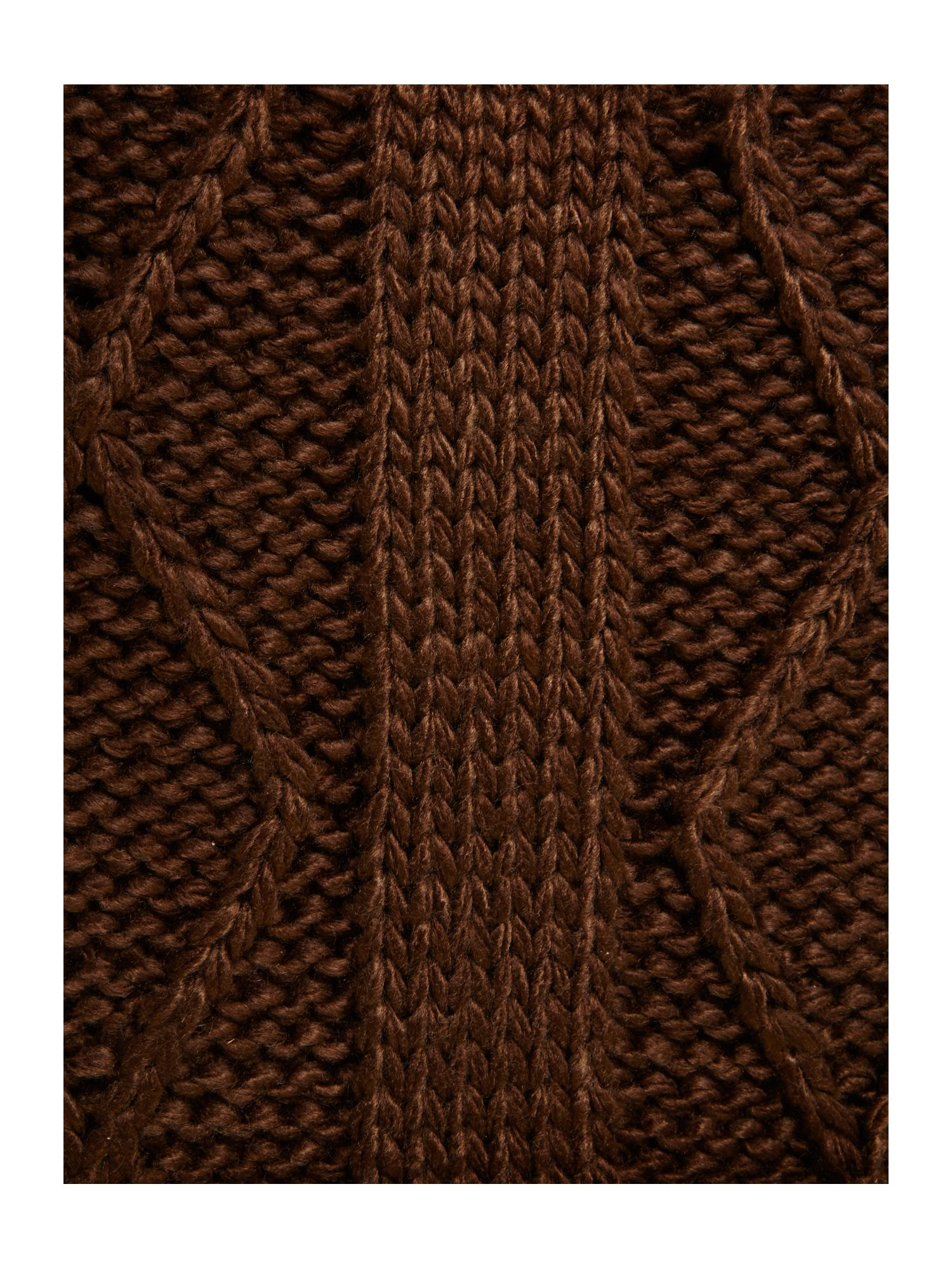 Brown chunky knit throw